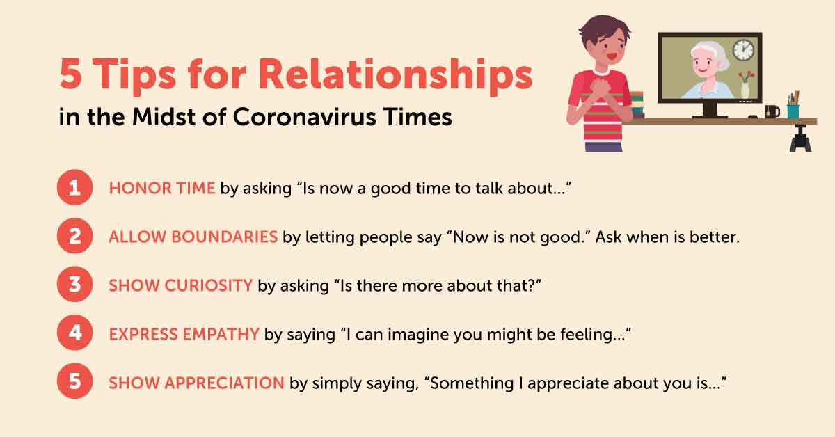 5 Tips for Relationships in the Midst of Coronavirus Times